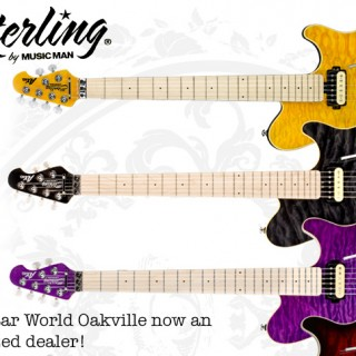 The Guitar World Oakville now authorized dealer for Sterling by Music Man